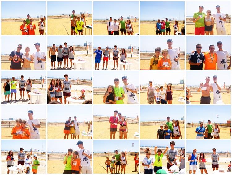 Algunos de los ganadores