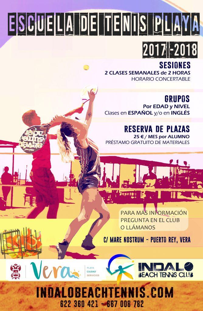 tenis playa clases escuela beach tennis school vera almería spain lessons indalo
